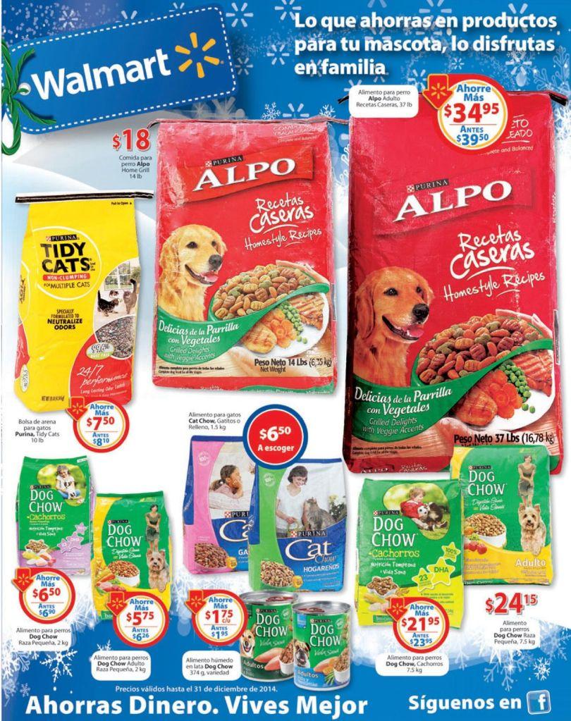 WALMART ofertas en productos para tu mascota - 13dic14