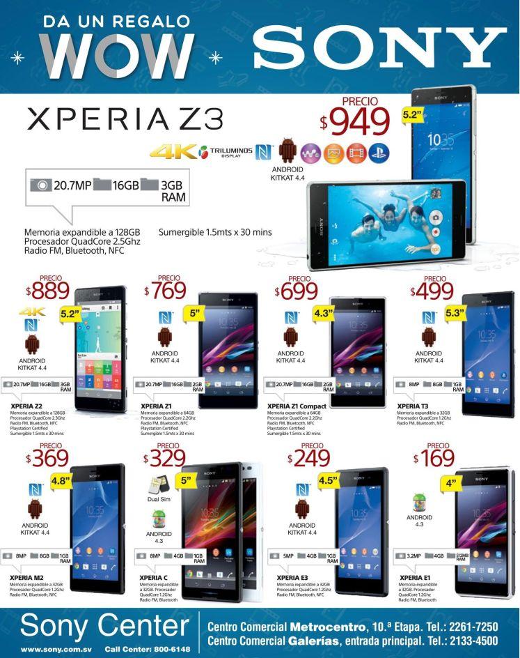 WOW smartphone sony XPERIA z3 series - 15dic14