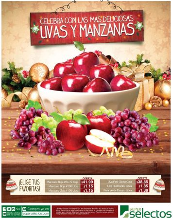 celebrate happy new year 2015 with GRAPES and APPLES