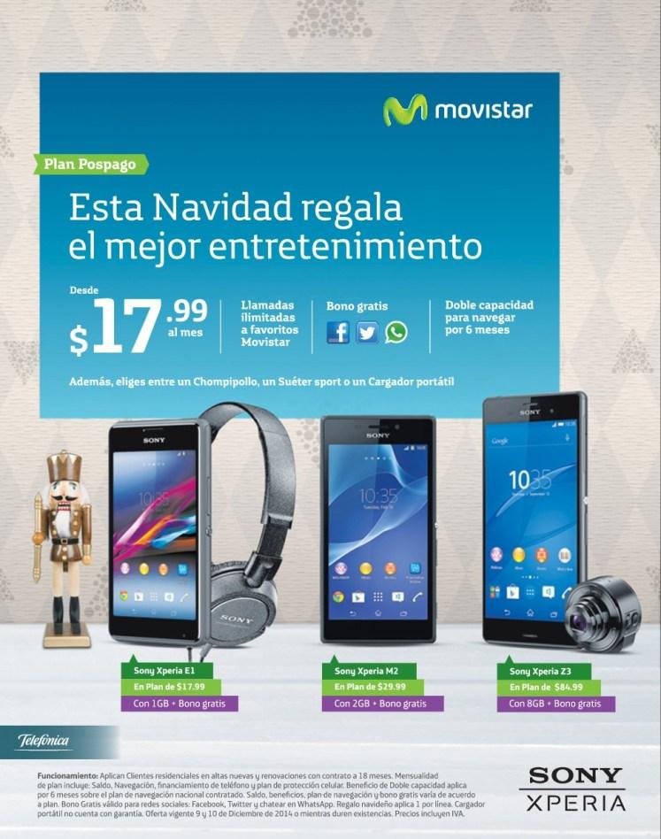celulares SONU xperia de movistar - 10dic14