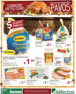 ofertas de pavos para navidad en super selectos - 22dic14