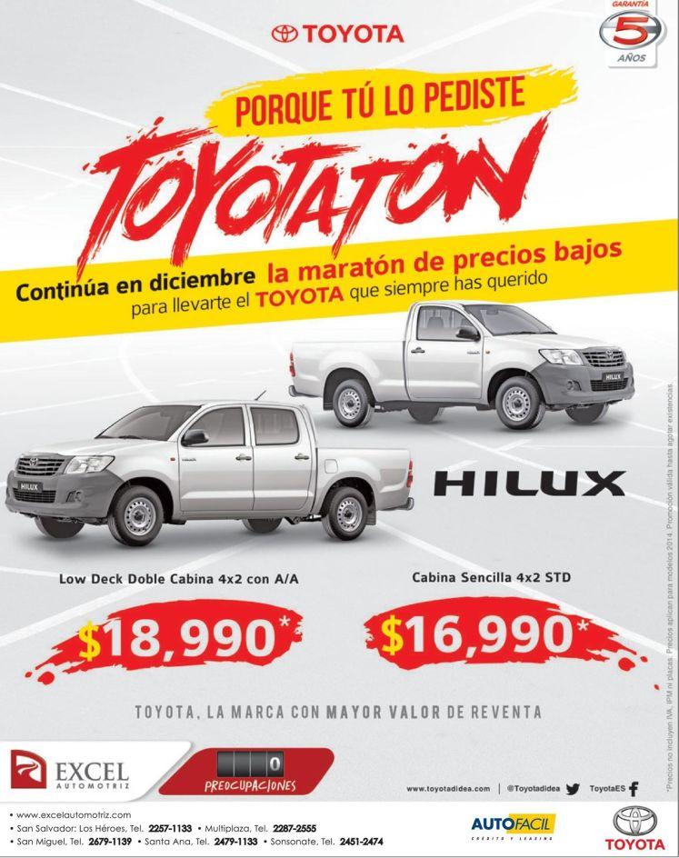 promociones en pick up TOYOTA - 02dic14