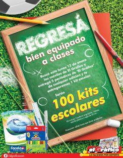 100 KIT escolares GRATIS gracias a ELGRAFICO - ene15