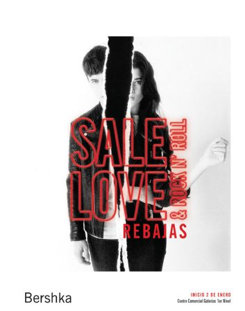 BERSHKA SALE LOVE rebajas rock and roll - 02ene15