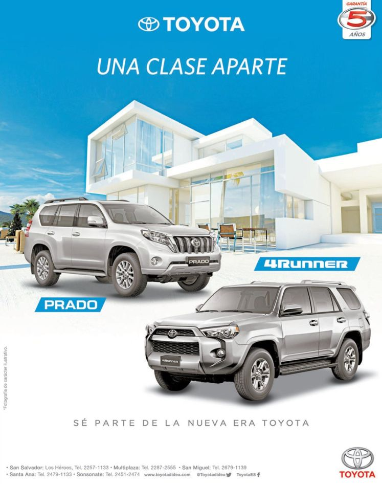Exclusive cars TOYOTA prado and 4runner