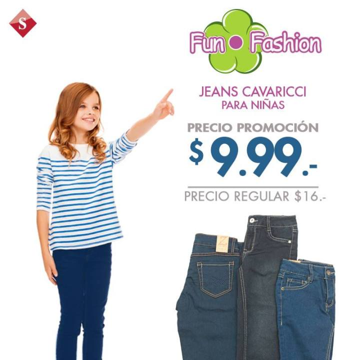FUN fashion jeans cavaricci for kids - 27ene15