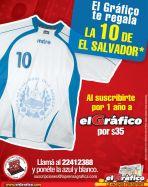 GRATIS Camiseta de futbol el salvador ELGRAFICO