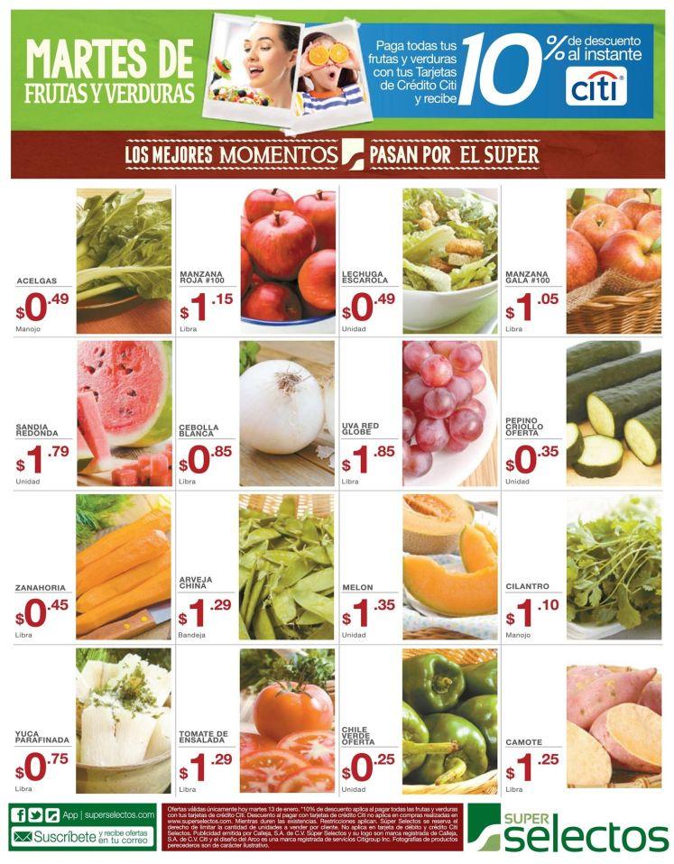 HOY Martes de frutas y verduras super selectos - 13ene15