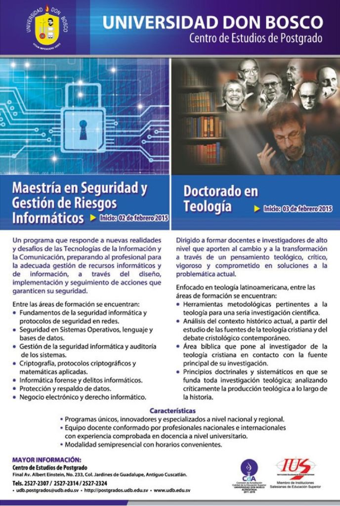 MASTER risk managment and security IT