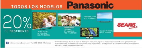 PANASONIC discounts led smart TV - 16ene15