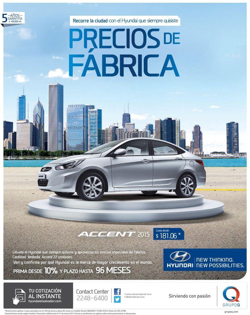 Promocion PRECIOS DE FABRICA hyundai accent 2015