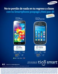 SAMSUNG grand prime and fame lite NEW smartphone tigo - 09ene15
