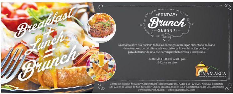 SUNDAY brunch season caja marca promocion - 24ene15