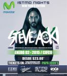 TONIGHT in el salvador STEVE AOKI show - 02ene15