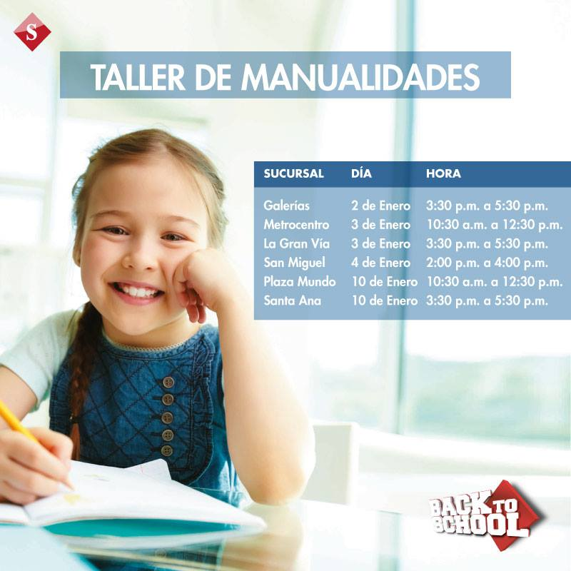 Taller de manualidades for kids SIMAN - 03ene15