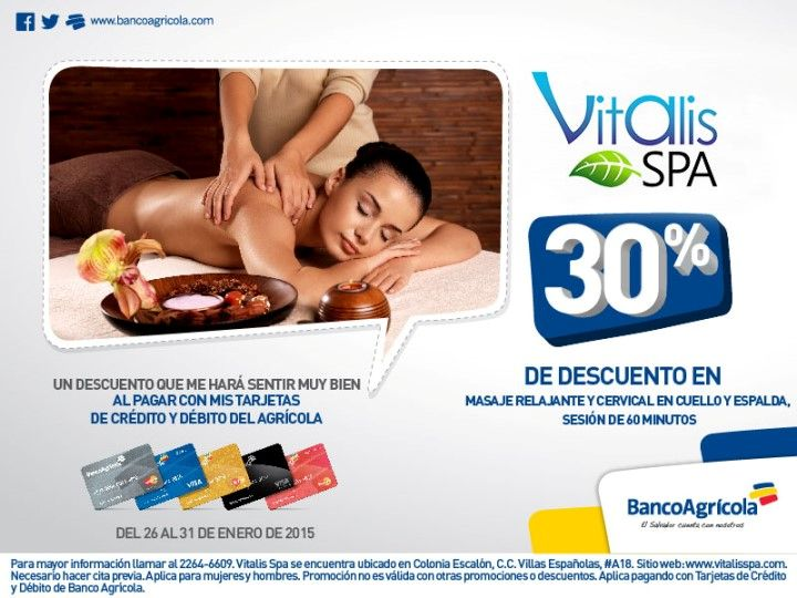 VITALIS spa discounts tarjetas Banco Agricola - 29ene15