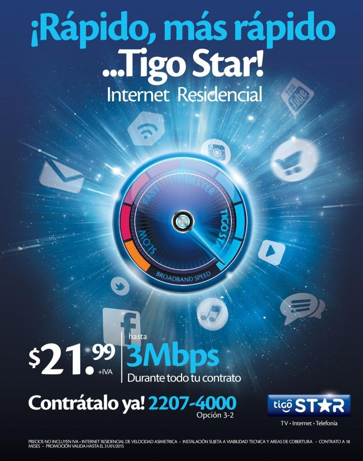 more fast internet access by TIGO STAR - 27ene15