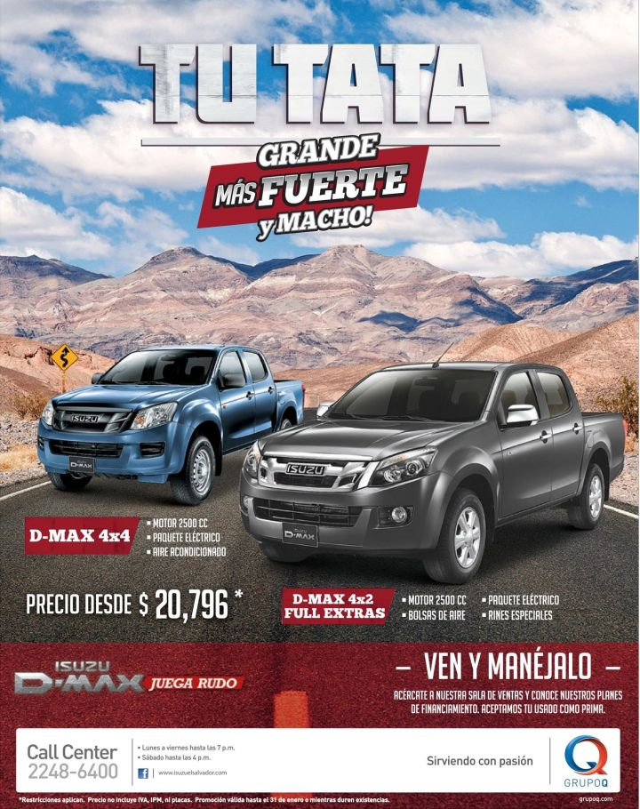 planes de financieamiento CAR SALE pick up ISUZU d-max - 27ene15