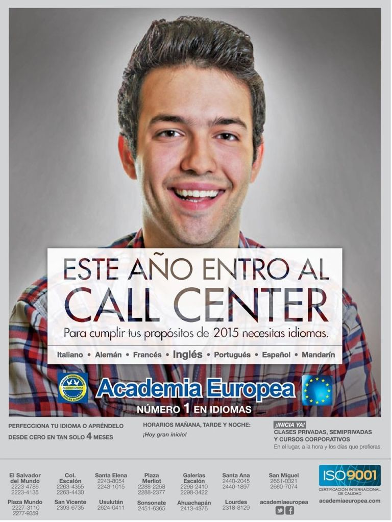 trabajar CALL CENTER aprende ingles - 19ene15
