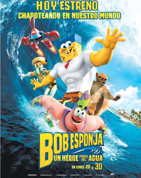 BOB ESPONJA the movie 2015 un heroe bajo el agua
