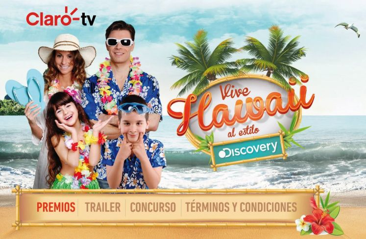 CLARO TV concurso VIVE HAWAII al estilo Discovery channel
