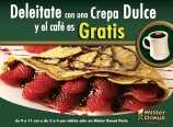 Delitate crepa dulce y cafe GRATIS mister donut - 05feb15