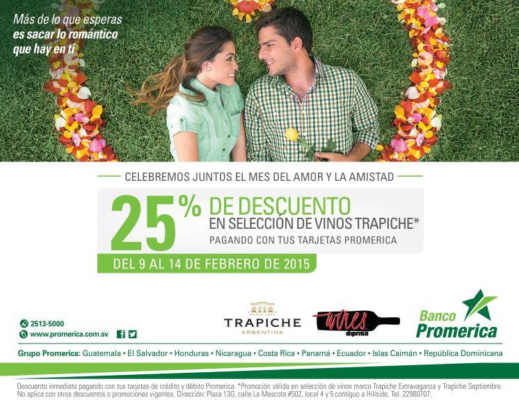 Descuento en vinos TRAPICHE argentina - 10feb15
