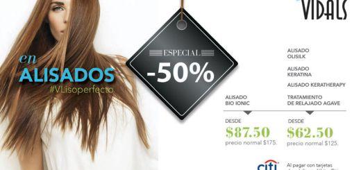 Especial de alisado de cabellos VIDALS salon - 02ene15