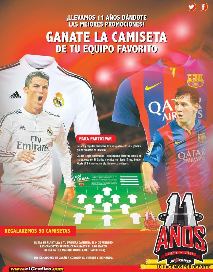 GANA camisetas del real madrid y barcelona