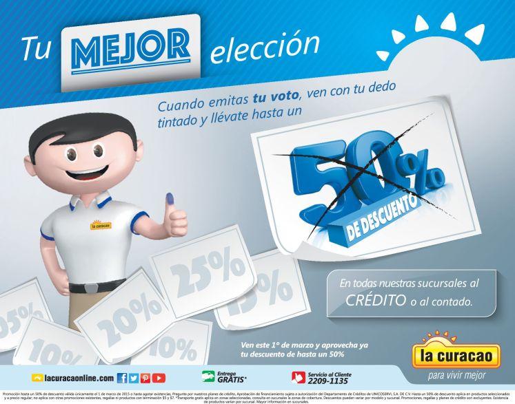 Hasta 50 OFF por emitir tu voto 2015