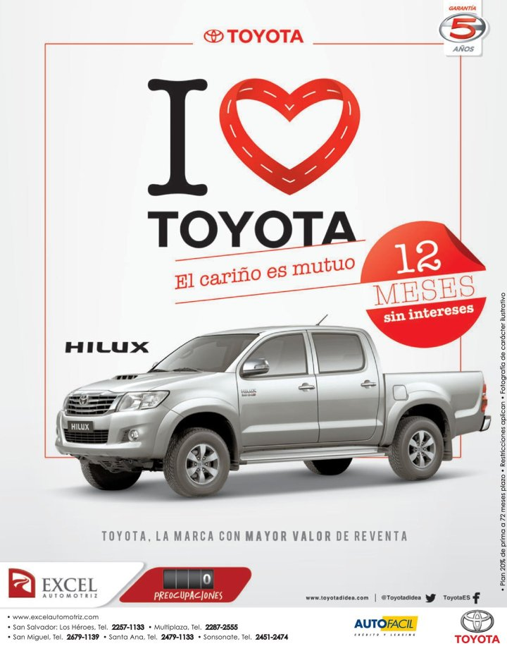 I love TOYOTA honey mutual HILUX pickup