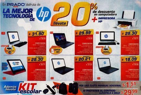 KIT escolar de computadora HP descuentos PRADO - 23feb15