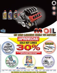 MEGA OIL oro para el motor de tu vehiculo - 16feb15