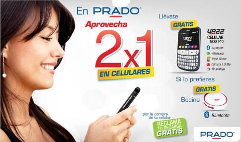 PRADO promociones 2x1 en celulares - 16feb15