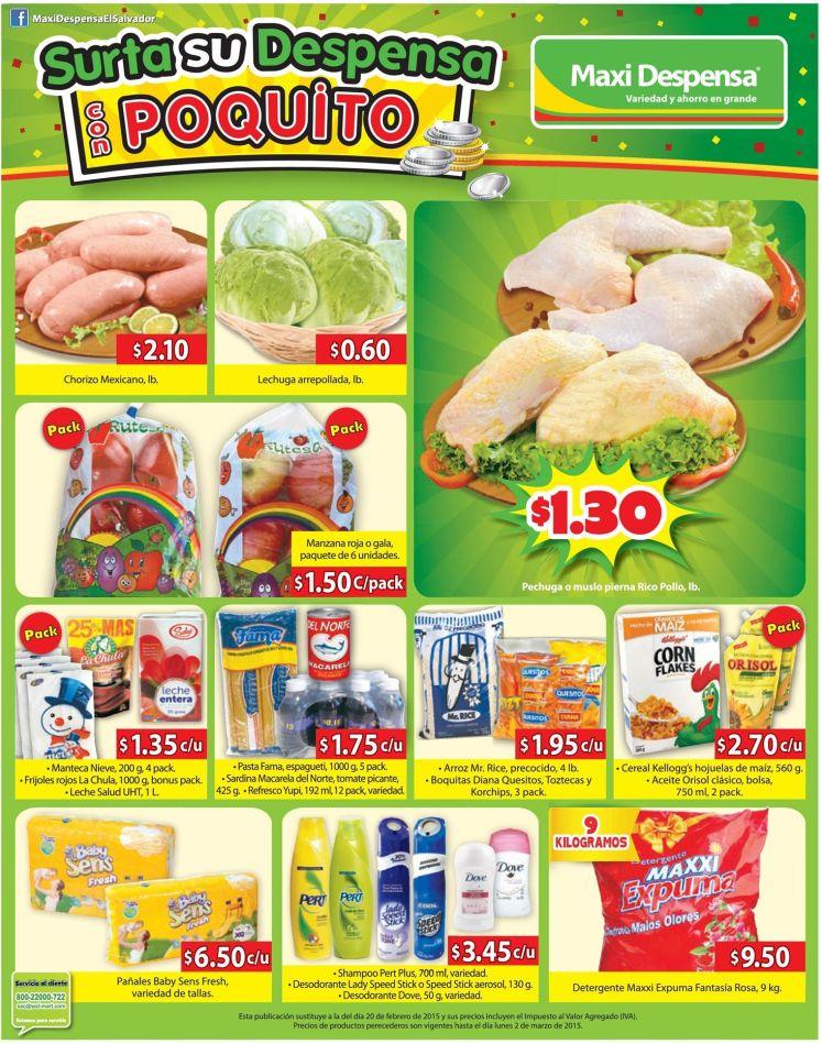 Pack de ahorro maxi despensa supermercados - 27feb15