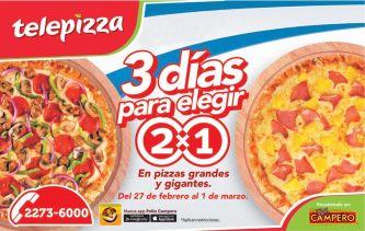Promocione spara elegir tu telepizza favorita - 27feb15