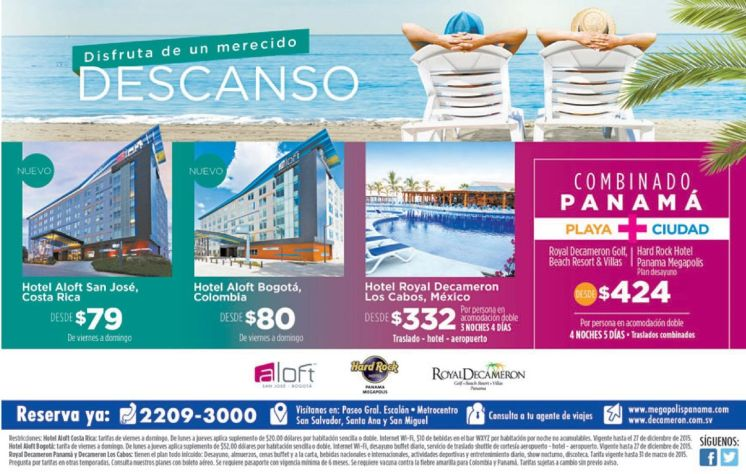 Reserva ya ROYAL DECAMERON resorts playa y ciudad - 26feb15