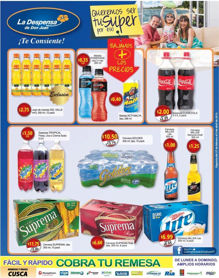 bajos precios en benidas para este viernes - 27feb15