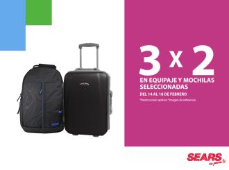 mochilas y equipaje promociones 3x2 - 17feb15