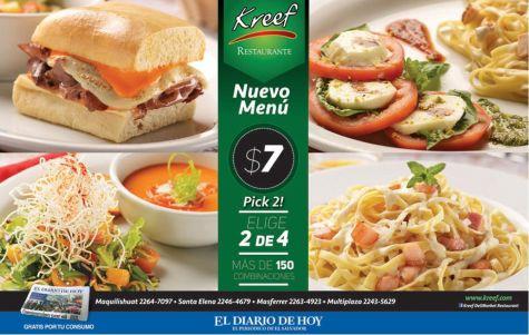 new menu KREEF restaurant gourmet pick 2 - 13feb15