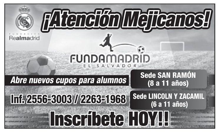 nuevos cupos FUNDA MADRID aprende futbol - 03feb15