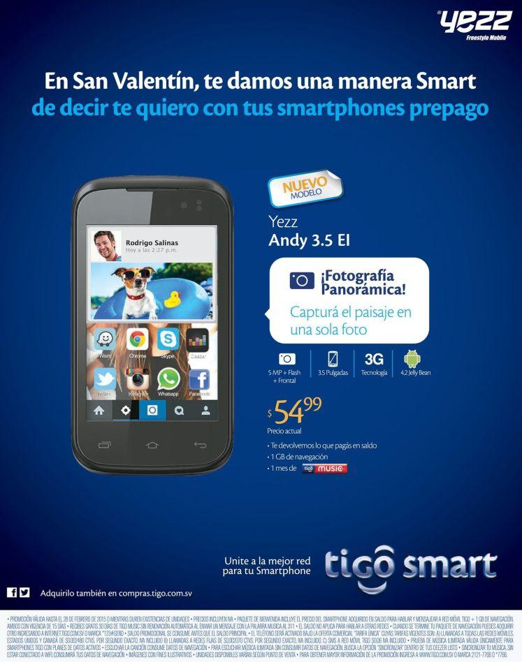 nuevos smartphone YEZZ de tigo oferta - 25feb15