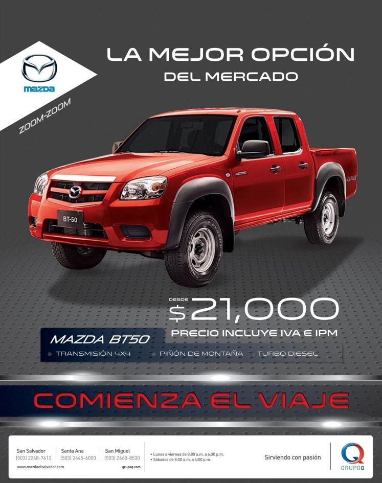 oferta pick up el salvador MAZDA carros