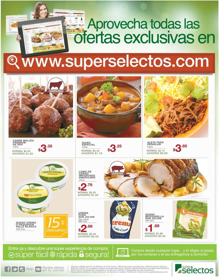 online exclusive offers super selectos - 27feb15