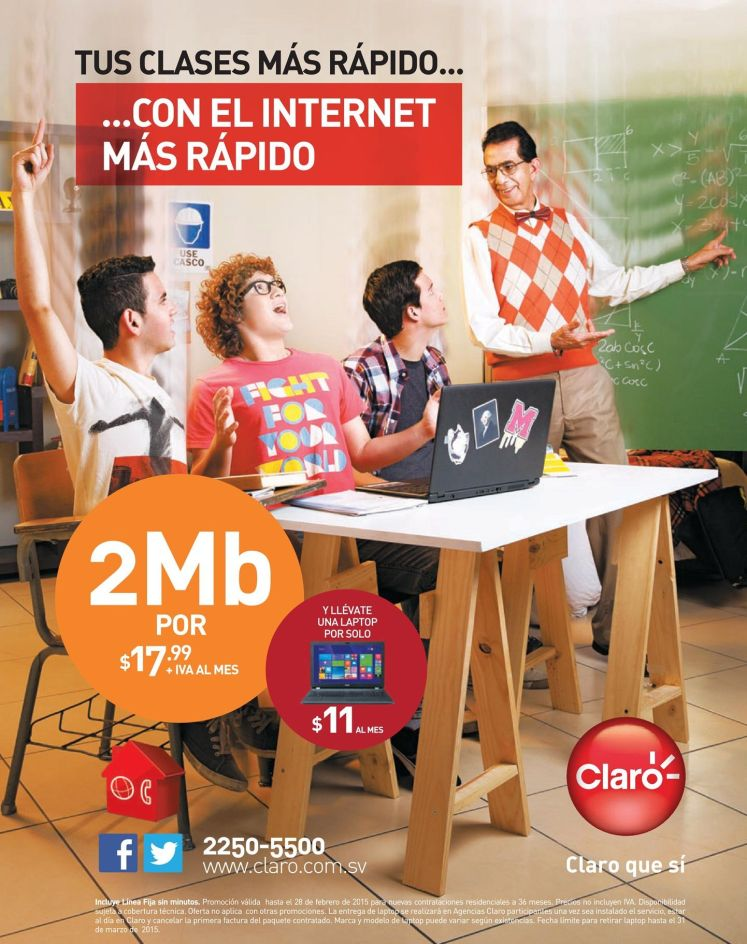 promotion fast internet access CLARO - 10feb15
