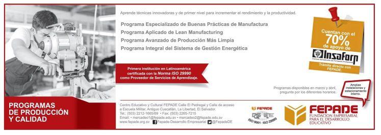 70 OFF apoyo de isaforp PROGRAMAS de produccion y calidad - 03mar15