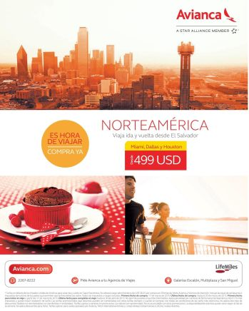 AVIANCA ofertas boletos aereos MIAMI dallas HOUSTON - 17mar15