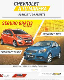 CHEVROLET sedan a tu medida spark and aveo - 03mar15