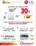 Descuento en lavadoras LG y Aires Acondicionado OMNISPORT - 20mar15