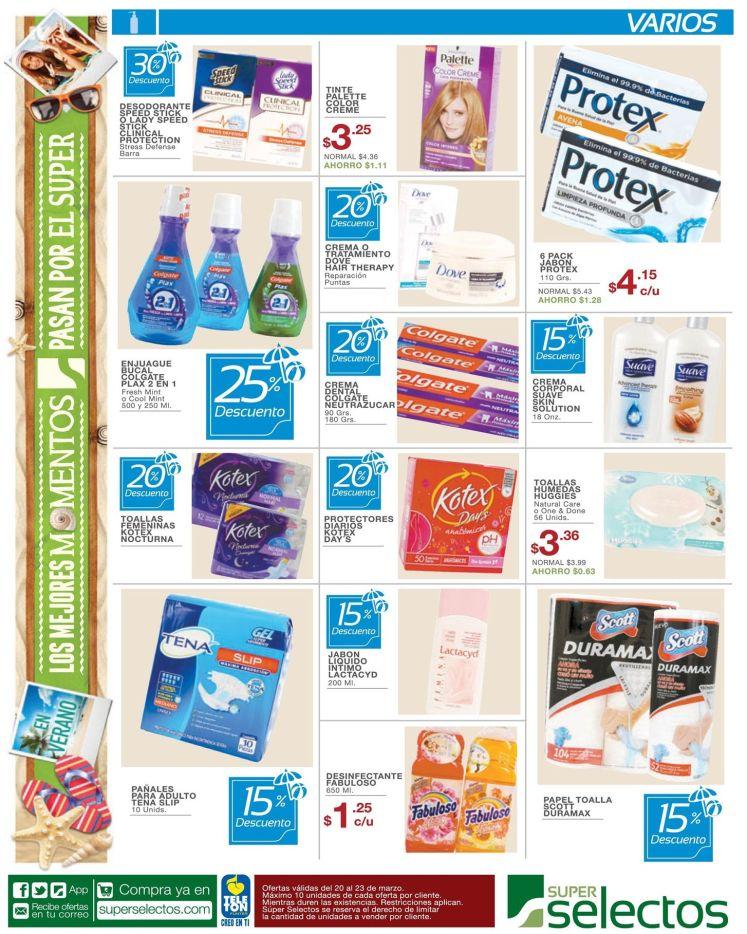 Descuentos super selectos productos de cuidado de bellaza y personal - 20mar15